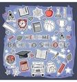 doodle school set vector image vector image