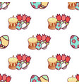 easter cakes seamless pattern10 vector image