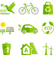 Ecology icons flat vector image