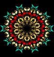 elegance floral paisley mandala pattern baroque vector image vector image