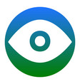 eye sign white icon in vector image