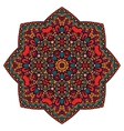 Festive colorful mandala star pattern vector image vector image