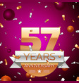 Fifty seven years anniversary celebration design