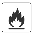 Fire icon Hot flame sign vector image vector image