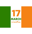 flag ireland with inscription st patricks vector image