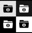 folder download icon isolated on black white and vector image vector image