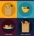 food infographic elements paper shopping bag vector image