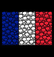 french flag collage of thumb down icons vector image