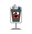 garbage can with metal trash vector image vector image