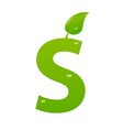 green eco letter s illiustration vector image