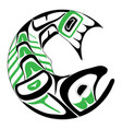 haida salmon tattoo vector image vector image