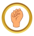 Hand with clenched fist icon cartoon style vector image vector image