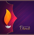 happy diwali festival greeting with text space vector image