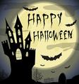 happy halloween card halloween template vector image