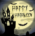 Happy halloween card Halloween template with vector image
