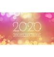 happy new year greeting card 2020 confetti