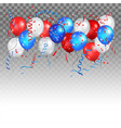 holiday balloons in traditional colors vector image vector image