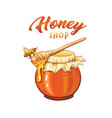 honey shop flat banner template vector image