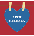 I lOVE NETHERLANDS5 vector image vector image