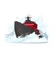 Icebreaker breaks ice vector image vector image