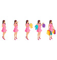 isometry stages and timing pregnancy girl vector image vector image