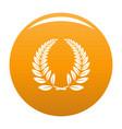 laurel wreath icon orange vector image