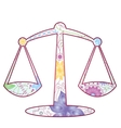 Libra zodiac sign gradient vector image vector image