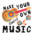 mexican music lettering vector image vector image