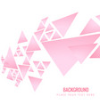 modern pink triangle pink background image vector image