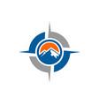 mountains abstract compass logo icon vector image vector image