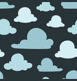 navy bue clouds seamless pattern background vector image