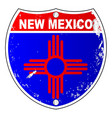new mexico flag icons as interstate sign vector image vector image
