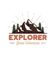 Outdoor explorer badge Retro of vector image vector image