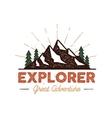 outdoor explorer badge retro vector image vector image