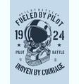 pilot helmet vector image