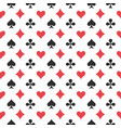 playing card seamless pattern vector image vector image