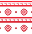 Red nordic knitted seamless pattern vector image