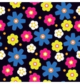 Seamless with bright flowers vector image