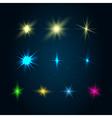 set 10 glowing design elements vector image