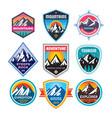 set adventure outdoor concept badges summer vector image