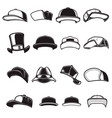 set baseball caps design element for logo vector image vector image