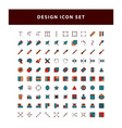 set editing design icon with filled outline vector image vector image