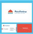 shower logo design with tagline front and back vector image vector image