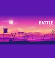 silhouette historical battlefield at sunset design