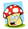 Smiling Mushroom vector image vector image