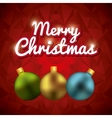 spheres icon Merry Christmas design vector image vector image