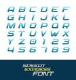 sport font dynamic motion italic letters