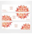 templates of banners with watercolor red vector image vector image