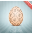 The Easter egg with an Ukrainian folk pattern vector image vector image