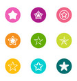 toy star icons set flat style vector image vector image
